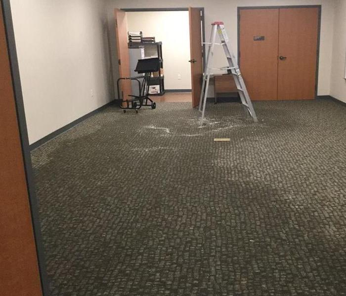 Soaked Carpet in Office Building Before